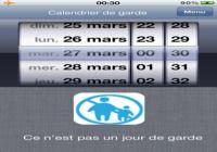 Calendrier de garde iOS pour mac