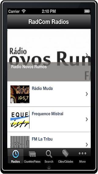RadCom Radios pour mac