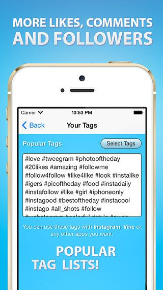 Tags for Likes, Comments and Followers - Most Popular Hashtags f pour mac