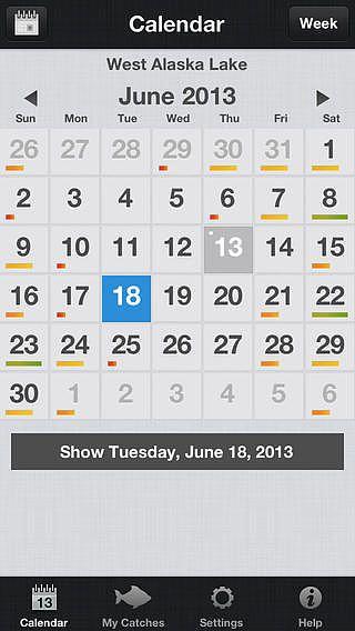 Calendrier du Pêcheur - Fishing Calendar pour mac