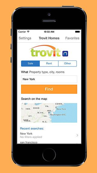 T l charger trovit vente et location immo for Site immobilier vente