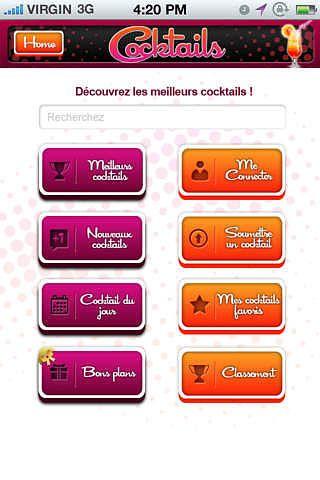 Cocktails: les recettes gratuites ! pour mac