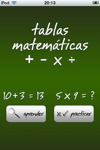 Tablas Matemáticas pour mac