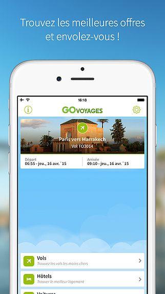 GO Voyages, le comparateur de vols réguliers et low costs (bille pour mac