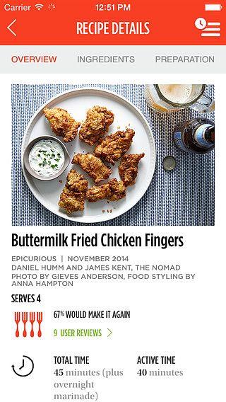 Epicurious Recipes  pour mac