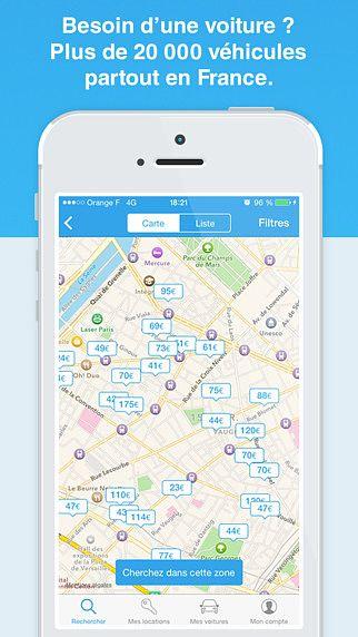 OuiCar, location de voiture entre particuliers pour mac