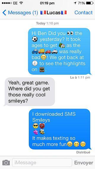 SMS Smileys pour mac