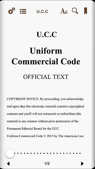 Uniform Commercial Article 22