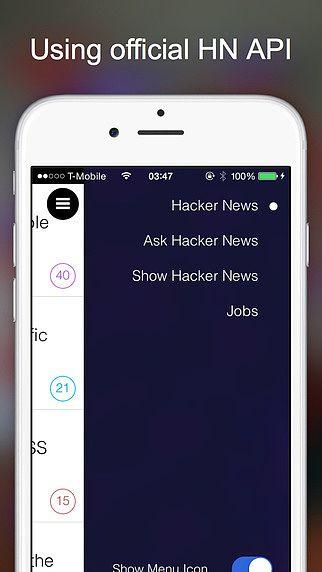 Hacker News Client pour mac