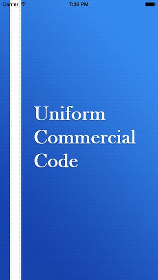 Uniform Commercial Article 86