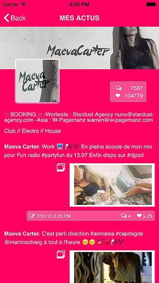 Maeva Carter pour mac