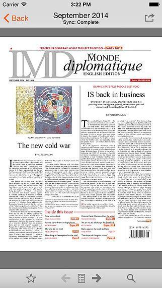 Le Monde diplomatique, English edition pour mac