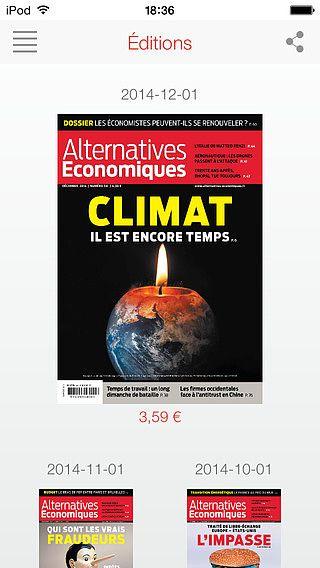 Alternatives Economiques - Editions numériques pour mac