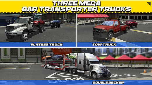 t l charger car transport truck parking simulator gratuit jeux de voiture. Black Bedroom Furniture Sets. Home Design Ideas