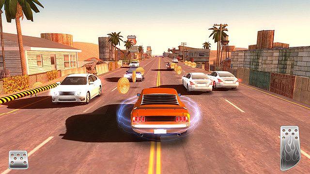 Course en ville Dans Courseurs Urbains , chaque voiture a ses forces et faiblesses, la voiture jaune est peut-être la plus lente, mais c'est elle qui a le meilleur contrôle, idéal pour les courbes serrées!