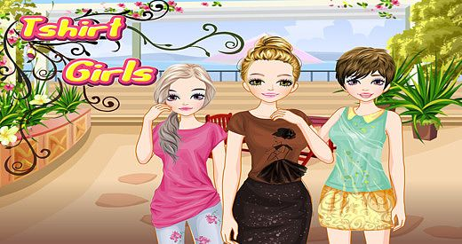 T-shirt Girls - Habillez-vous et jeu de maquillage pour les enfa pour mac