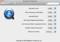 QuickTime X Preferences pour mac