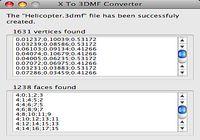 X To 3DMF Converter pour mac