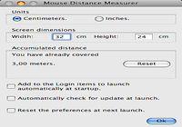 Mouse Distance Measurer pour mac