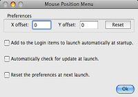 Mouse Position Menu pour mac