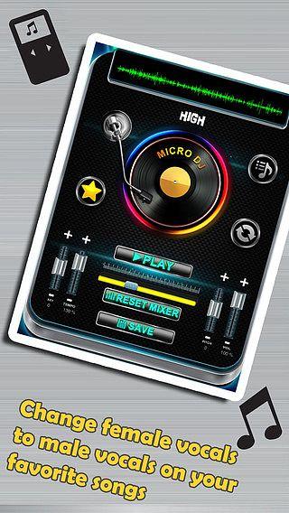 Micro DJ Gratuit - Effets audio pour musique de fête et édition  pour mac