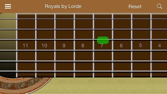 Guitare avec les morceaux pour mac