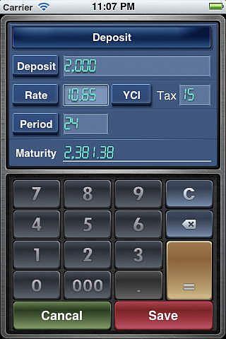 Facile à emploie-Calculatrice Financière Lite (EZ Financial Calc pour mac