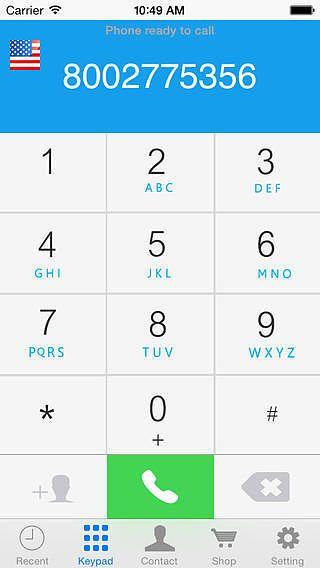 OneCall - Appel international à bas prix pour mac