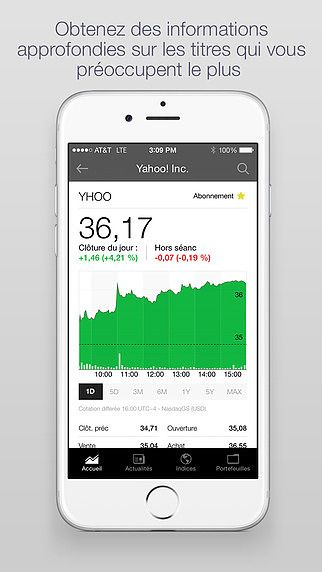 Yahoo Finance pour mac