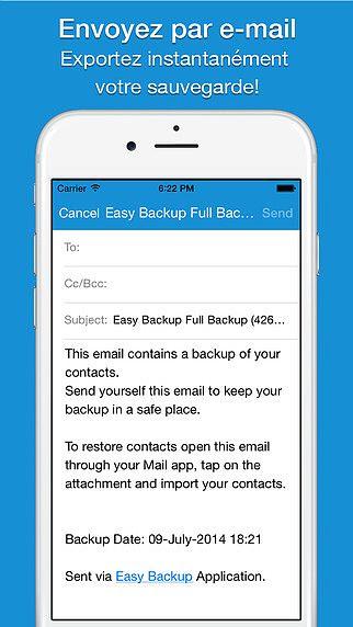 Easy Backup Pro - Assistant de sauvegarde des contacts pour les  pour mac