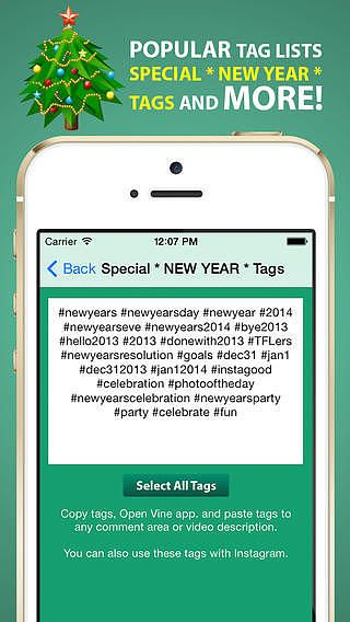 Tags for Vine - Most Popular Tags for Likes, Comments and Follow pour mac