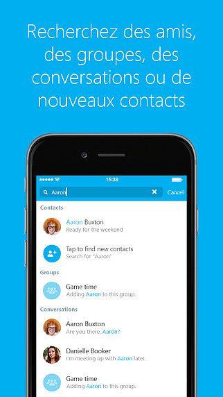 Skype pour iPhone pour mac
