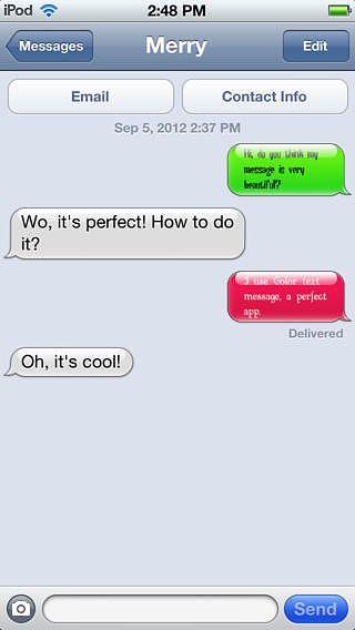 Color text message Lite pour mac