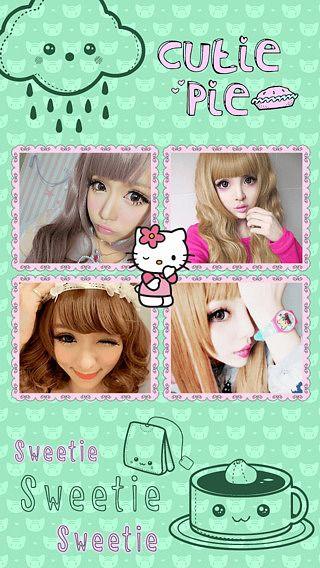 Cute Kawaii Cam Un bel autocollant photo éditeur de collage pour pour mac