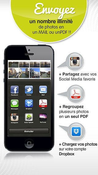 PicSend Photos - envoyer plusieurs images par Email PDF Texto In pour mac