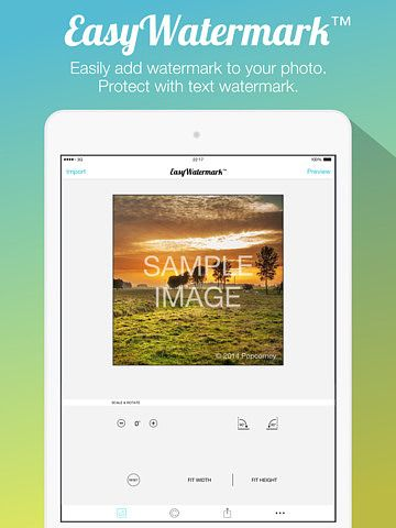 Easy Watermark for Photo - Insert text watermark on Photos iPad  pour mac
