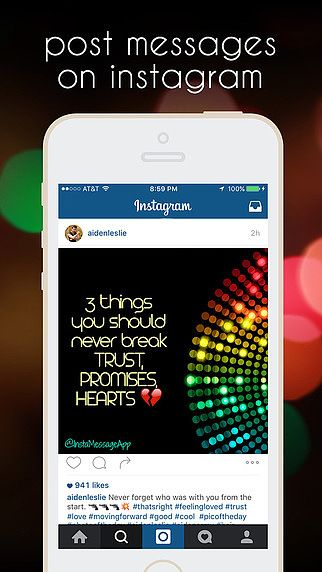 InstaMessage - Post Text Messages on Instagram - Postez des mess pour mac