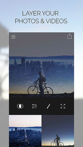 Fused : Double Exposure, Video and Picture Blender pour mac