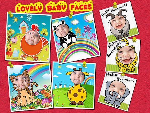 Bébé Visages Cadres photo (HD:) pour mac