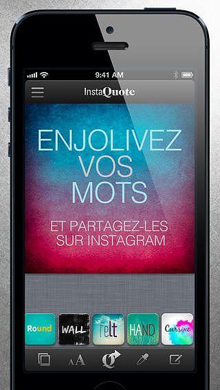 InstaQuote - ajouter du texte à vos photos et images sur Instagr pour mac