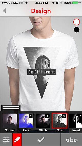 Snaptee - Design et impression de t-shirts personnalisés pour mac