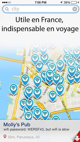 Wifi carte - mots de passe et wi-fi gratuit pour les hotspots pour mac