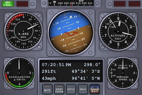 V-Cockpit GPS Lite - All in one (Compass, Altimeter, Speedometer pour mac