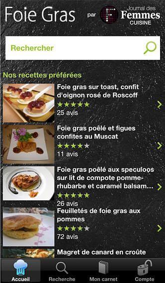 Recettes Foie gras pour mac