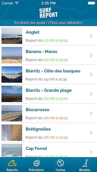 Surf Report pour mac