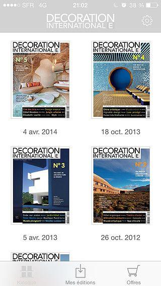 Décoration Internationale Magazine : Architecture et design d'ex pour mac