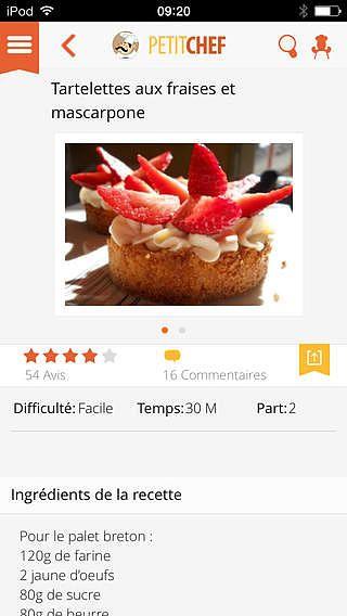 Ptitchef : recettes de cuisine pour mac