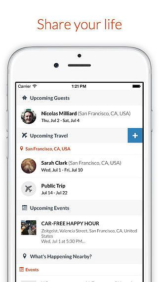 Couchsurfing Travel App pour mac
