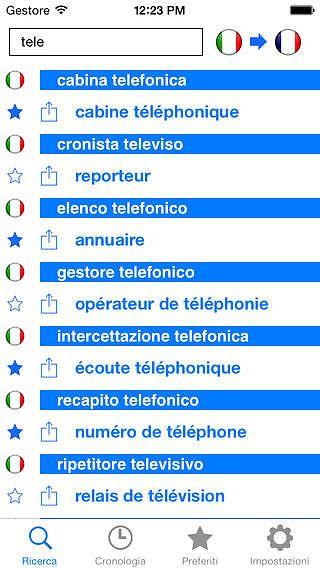 Dictionnaire Français Italien hors-ligne GRATUIT pour mac
