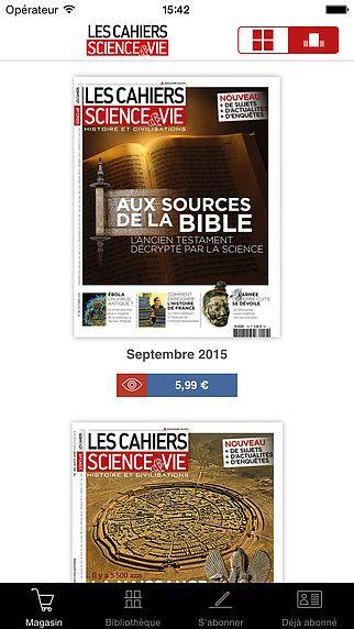 Les Cahiers de Science  pour mac